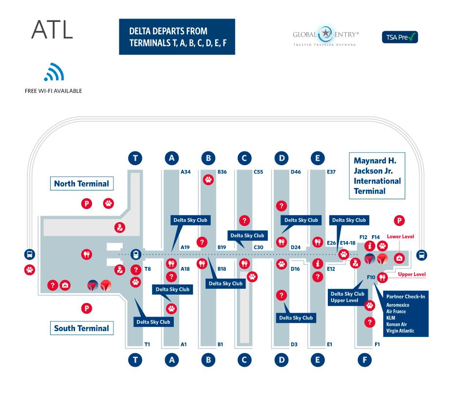 Atlanta Terminal Map
