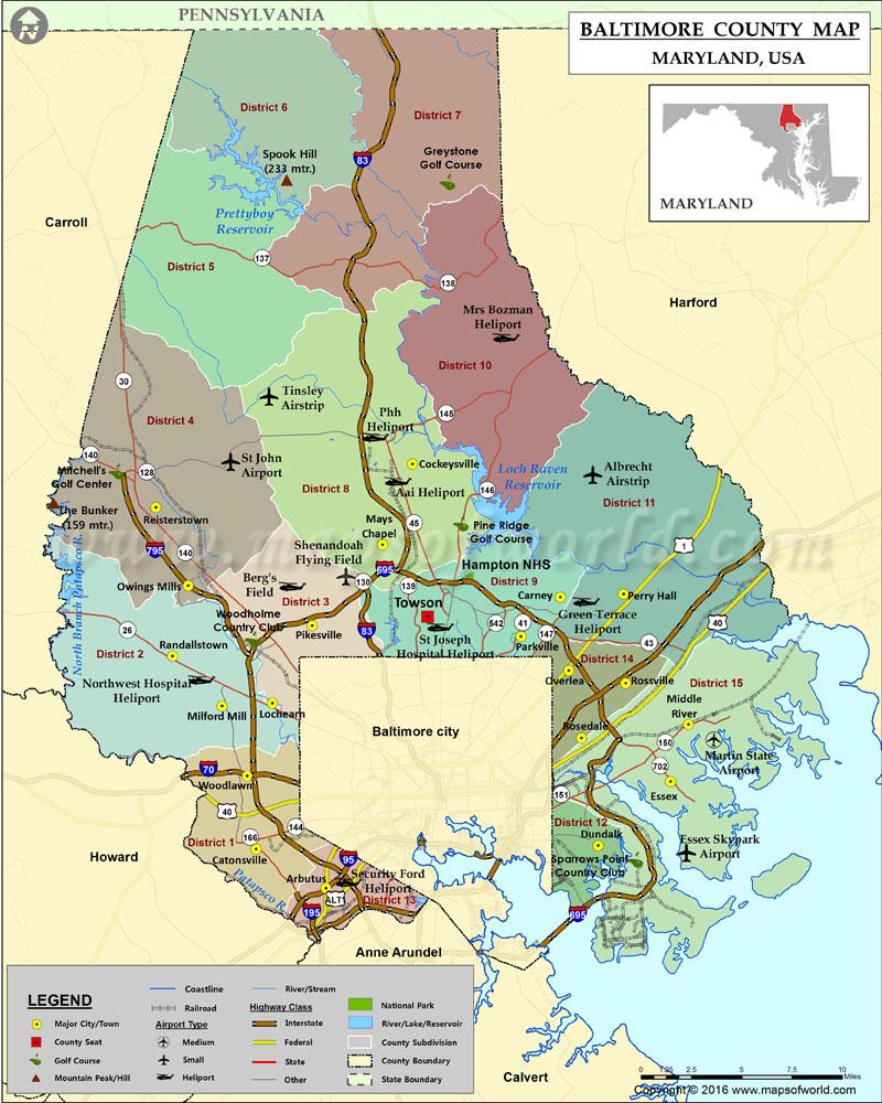 Baltimore County Map