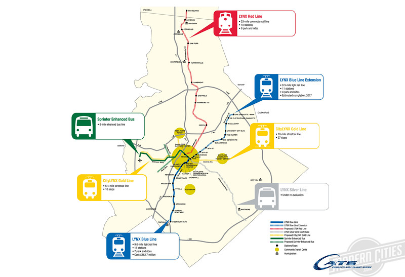 Charlotte Light Rail Map