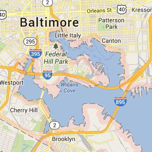Google Maps Baltimore