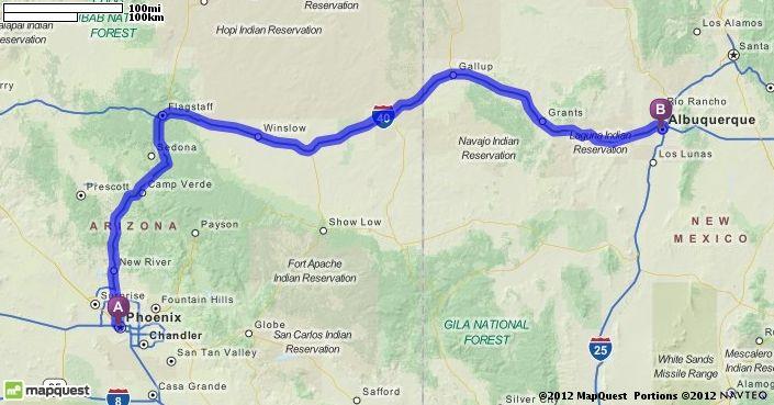 Map Quest Albuquerque