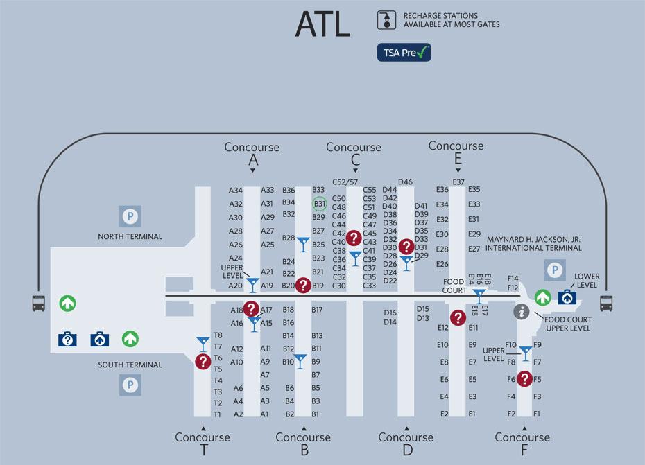 Map of Atlanta Airport