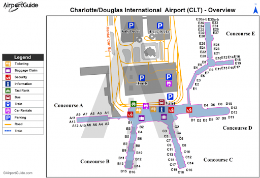 Map of Charlotte Airport