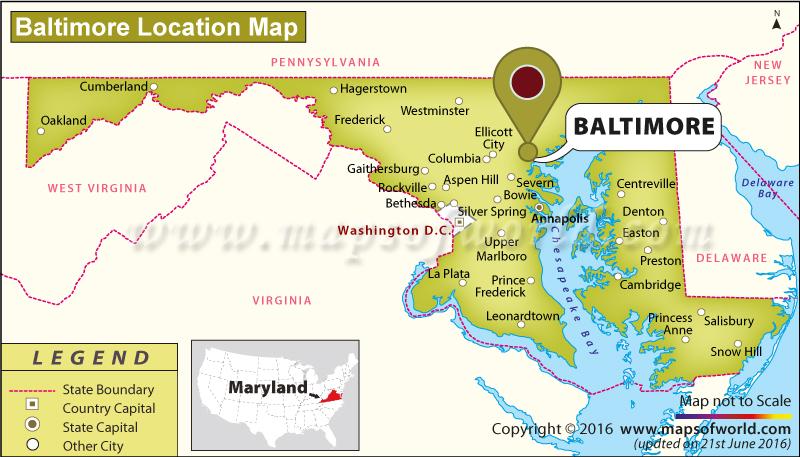 Maps Baltimore