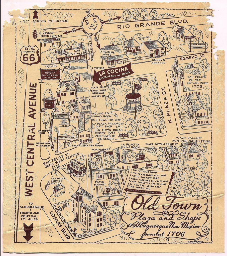 Old Town Albuquerque Map
