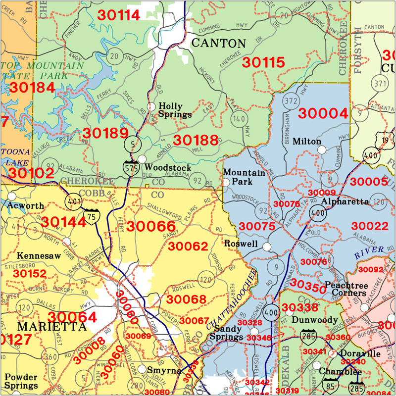 Atlanta Zip Code Map