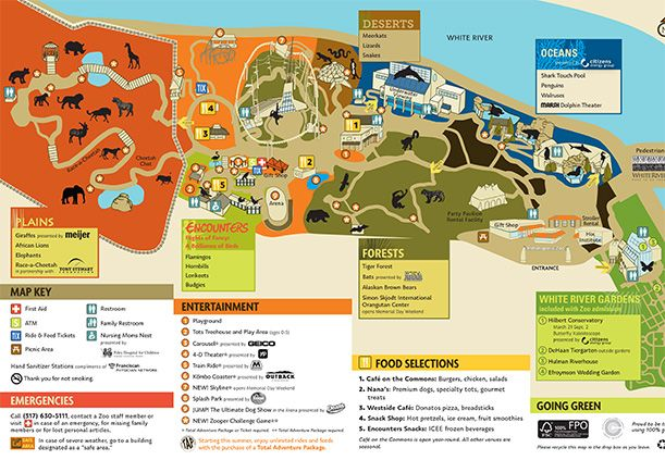 Indianapolis Zoo Map