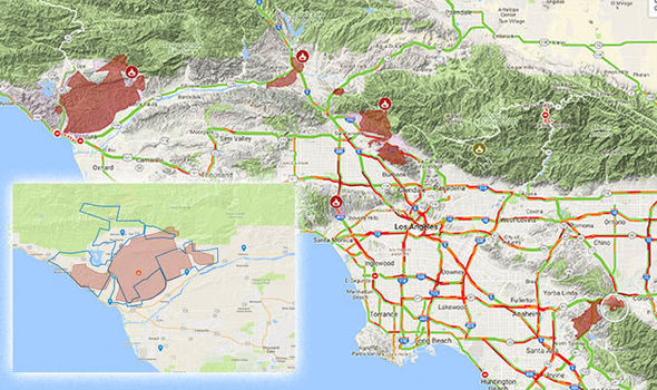 Los Angeles Fire Map
