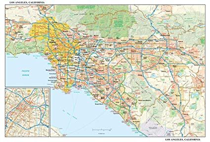 Los Angeles Map Los Angeles Maps Zip Code Images Videos History