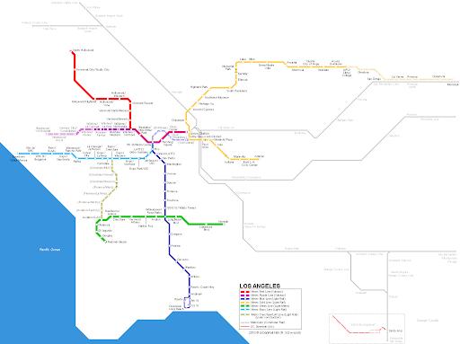 Los Angeles Metro Map