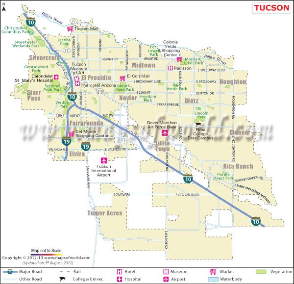 Map Tucson