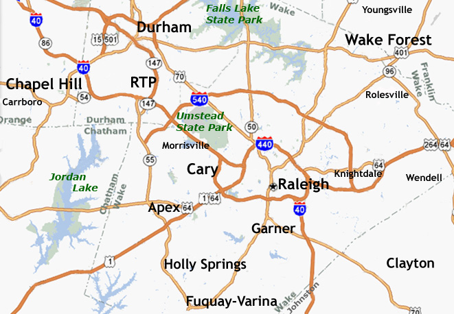 Map of Raleigh