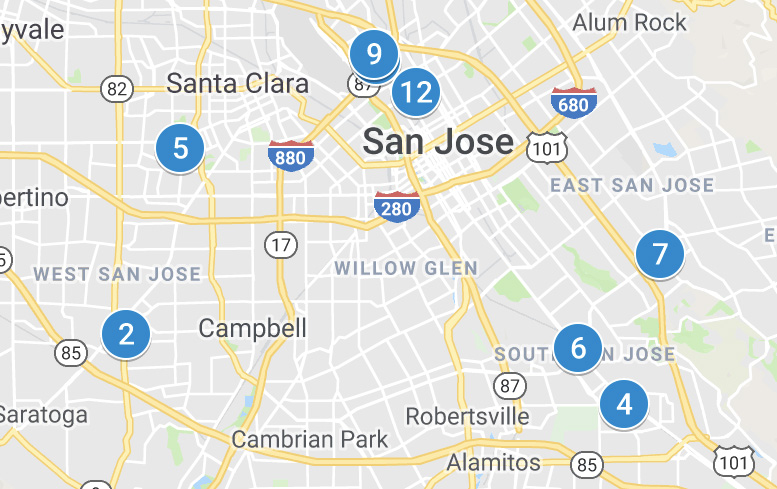 Map of San Jose