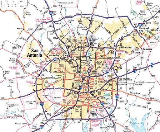 Maps San Antonio