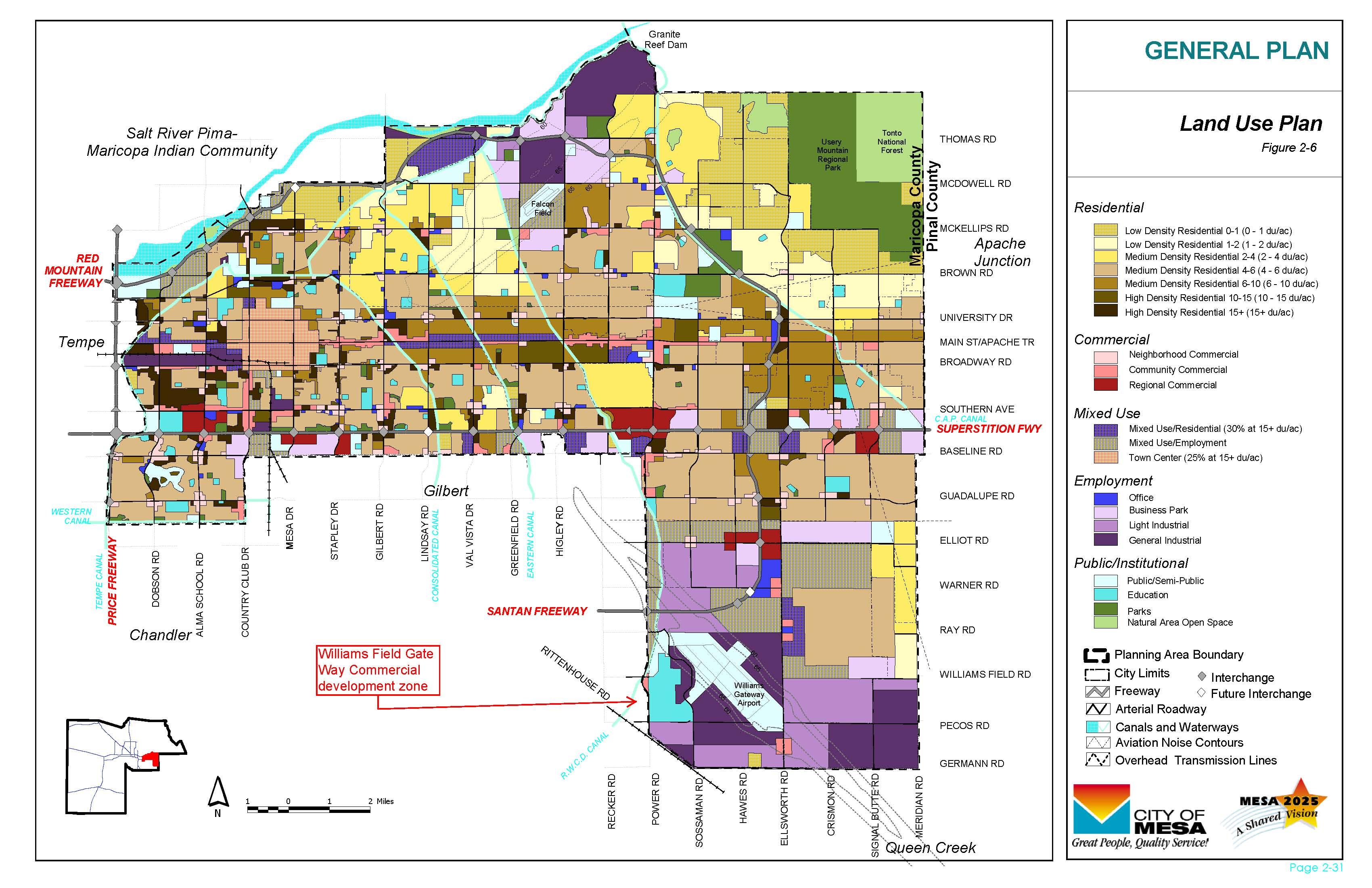Mesa City Map