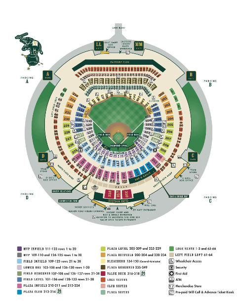 Oakland Coliseum Map