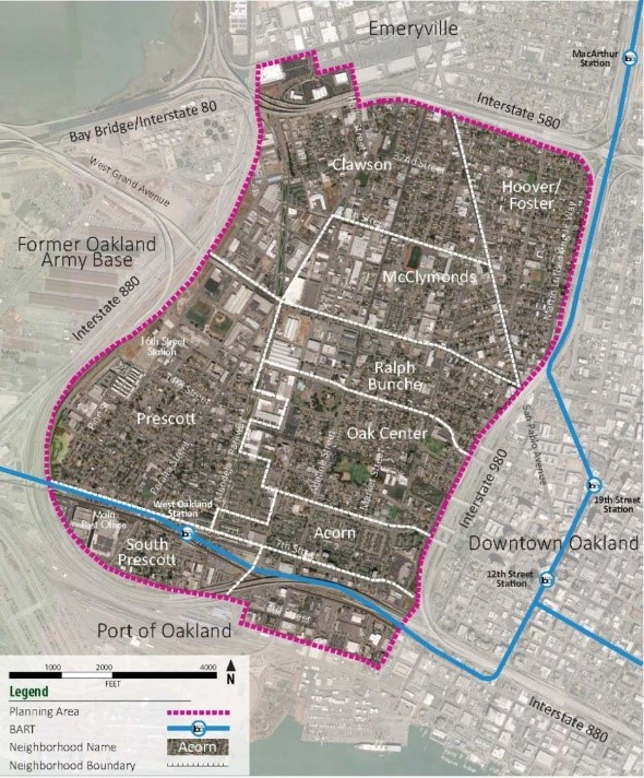 Oakland Zoning Map
