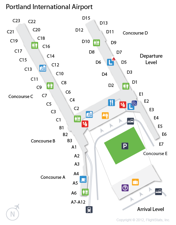 Portland Airport Map