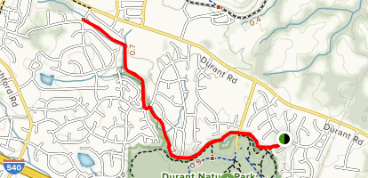 Raleigh Greenway Map