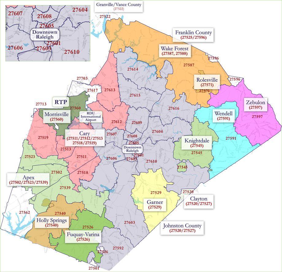 Raleigh Nc Map