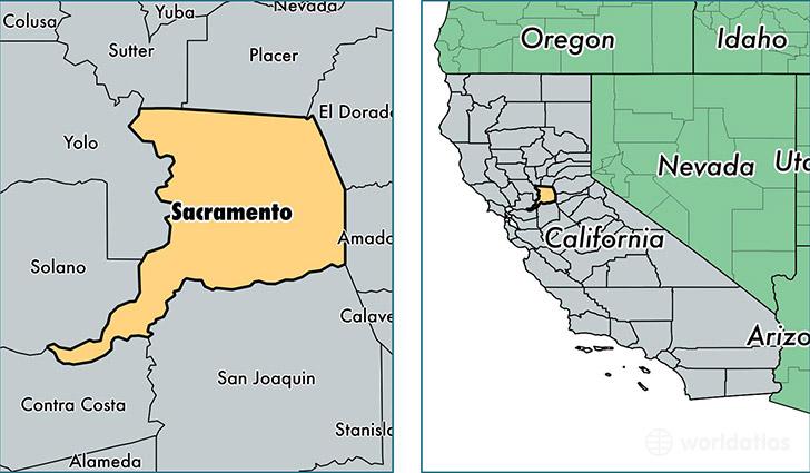 Sacramento California Map