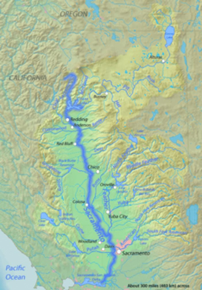 Sacramento River Map