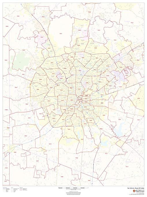 San Antonio Zip Code Map