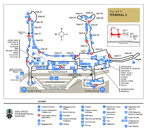 San Diego Airport Map