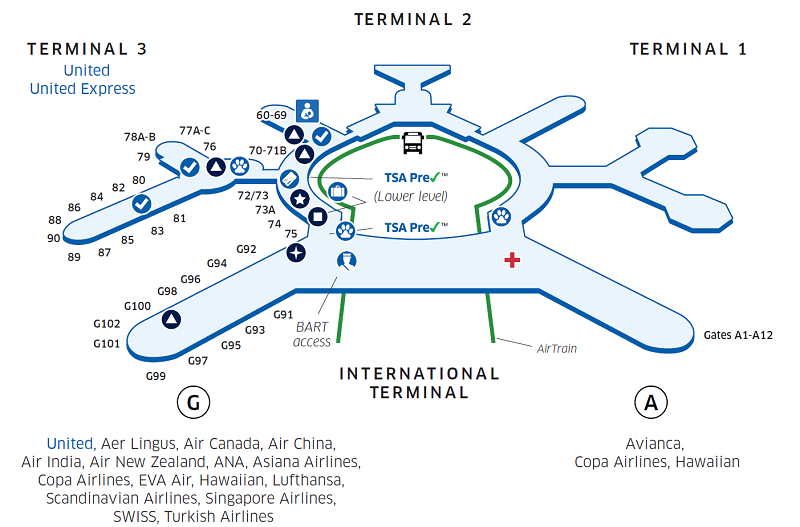 San Francisco Airport Map