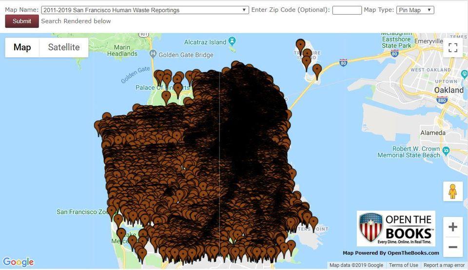 San Francisco Poop Map