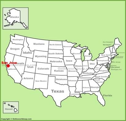 San Jose on Map