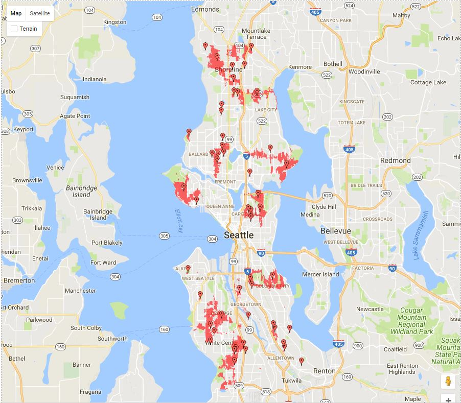 Seattle City Light Outage Map