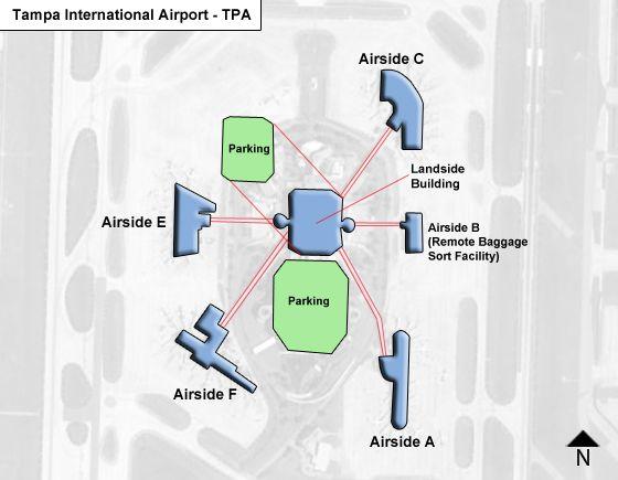Tampa Airport Map