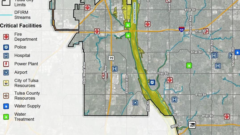 Tulsa Flood Map