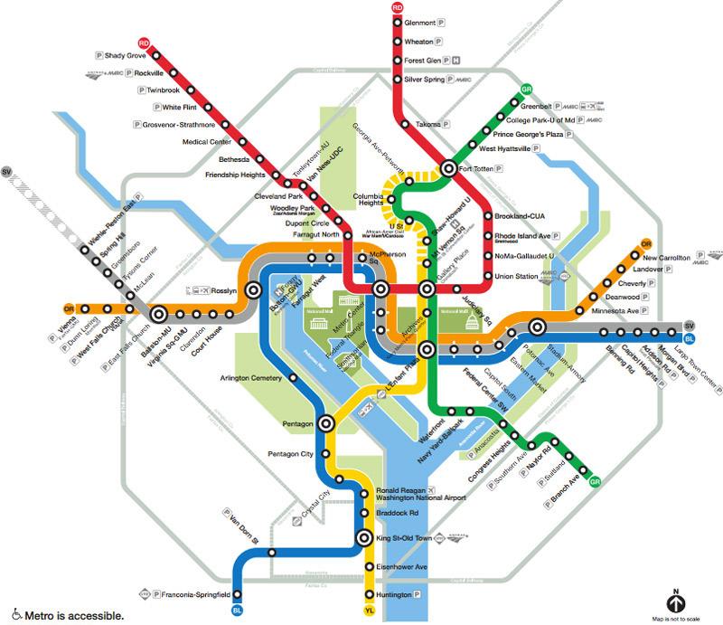 Washington Metro Map