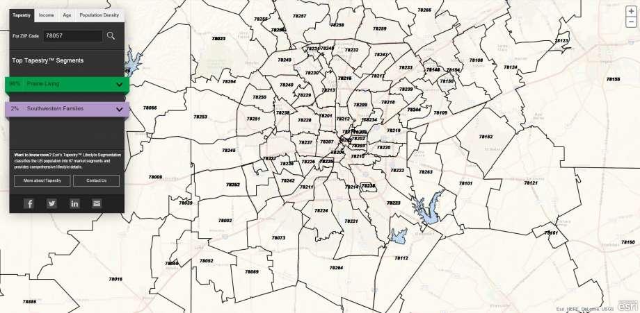 Zip Code Map San Antonio